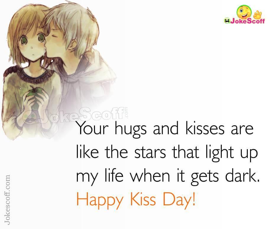 Happy Kiss Day Status Image