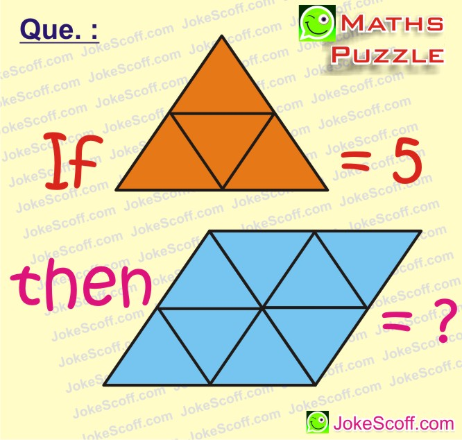 Superb Maths Puzzles - For WhatsApp Puzzles - JokeScoff