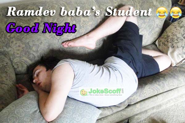 Funny Good Night sms Image