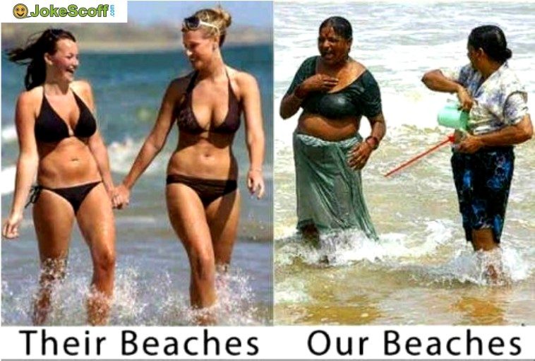 Funniest indian beach pics