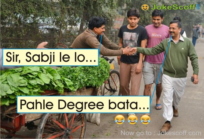 Kejriwal Degree Jokes