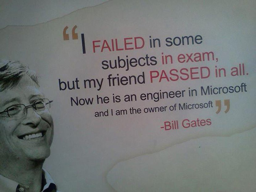 Bill gates failed in school life, Success quotes