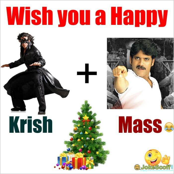 Funny Image of Happy Christmas day - bollywood and tollywood style