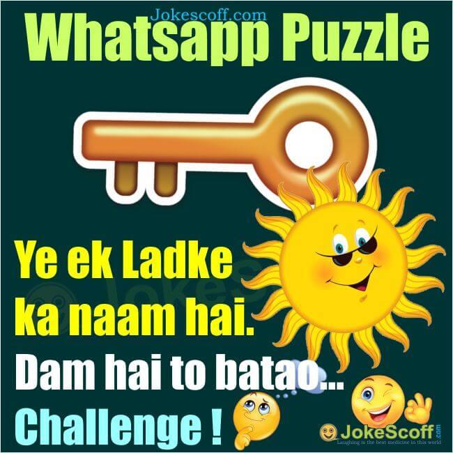 Whatsapp Puzzle - ek ek ladke ka naam hai Kishan
