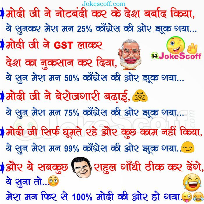 New Narendra Modi and Rahul Gandi Funny Jokes