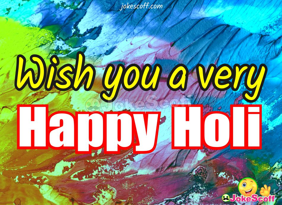 Wish You a very Happy Holi Image