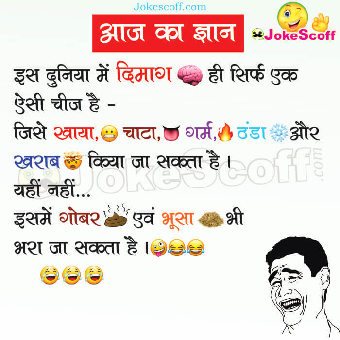 Brain Jokes in Hindi for WhatsApp and Facebook