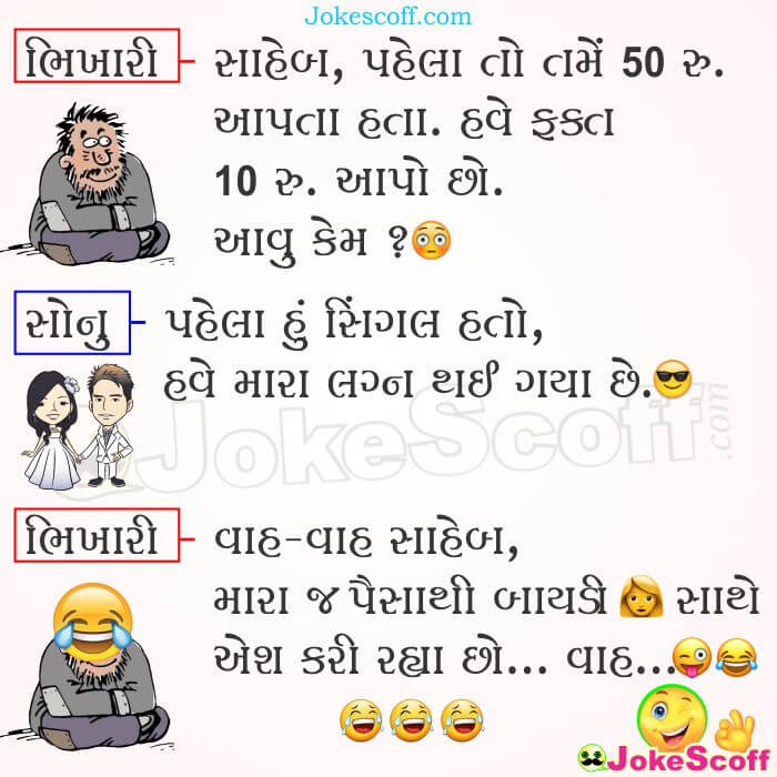 Funniest Beggar Jokes in Gujarati