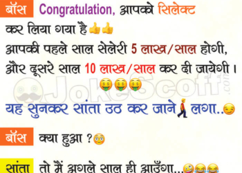 Santa and Boss Interview Jokes in Hindi