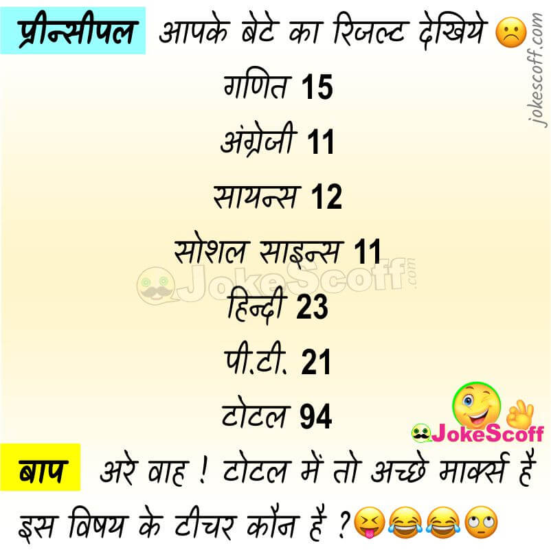 Exam Result Jokes in Hindi